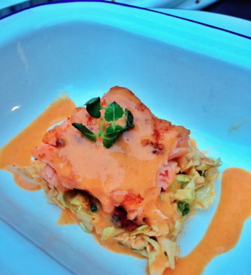La Faille Paris - tataki saumon et choux - ©pilierdebuffet